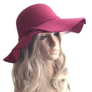 Accessories - Felt Floppy Brim Fashion Big Brim Fedora Hat